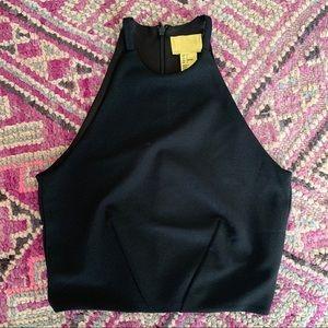 H&M black halter crop top